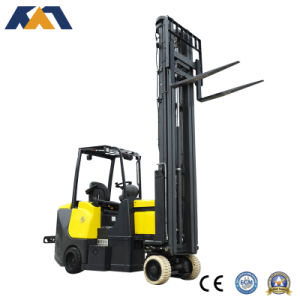 4 Wheel Articulating Electric Forklift Truck Battery Forklif