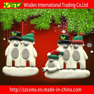 Polymer Clay Christmas Decorations.Snowman Family Polymer Clay Christmas Tree Decoration Craft Gift