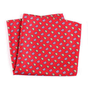 Luxury Silk Polyester Dots Plaid Flower Printed Pocket Square Hanky Handkerchief (SH-023) pictures & photos