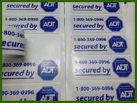 Customized Square Double Side Printing Labels
