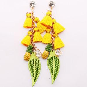 Fashion Jewelry Fashion Earrings Tassel Earrings Costume Jewelry Rhinestone Earrings Pineapple Pendant Leaf-Shaped Pendant & China Fashion Jewelry Fashion Earrings Tassel Earrings Costume ...