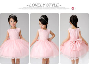 Kd1076 Hot Sale High-End Flower Girl Full Dress Bridesmaid Dress Sleeveless Beautiful Tutu Dresses Evening Gowns Dress for Retail pictures & photos