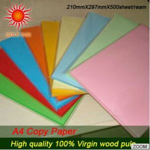 100% Wood Pulp Colorful A4 Copy Paper pictures & photos