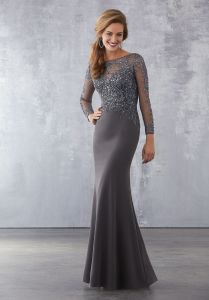 0eec5088d1e China Amelie Rocky 2018 Grey Mermaid Long Sleeve Evening Gown ...