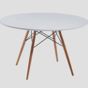 MID Century Modern Tower Round Table Bistro Table Black