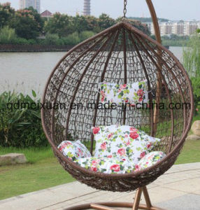 Cane Hanging Basket to Indoor and Outdoor Balcony Hanging Swing Chair Cushion Adult Bird′s Nest Single Rocker Cradle (M-X3537) pictures & photos