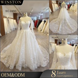 2eeba7d91 China Factory Real Sample Pictures Wedding Dress Bridal Gown Long Sleeve