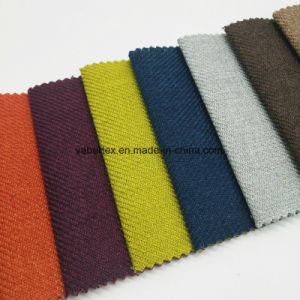 Polyester Upholstery Home Textile Plain Dyed Woven Sofa Fabric pictures & photos