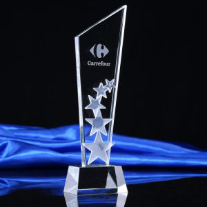Gold Supplier Cheap Glass Crystal Trophy Award pictures & photos