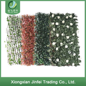 Factory Outlet Store Decorative Indoor Artificial Fence Hedge Plastic Greenery Leaf Fence