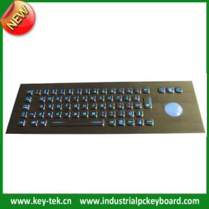 IP65 Industrial Backlight Stainless Steel Keyboard with Trackball