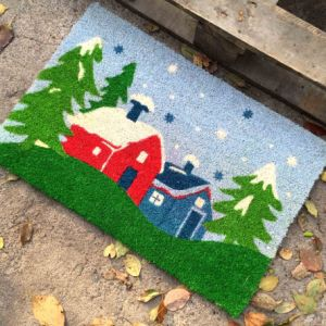 Wholesale Made in China Dye Sublimation Spray Printing Coconut Coco Coir Fiber Door Mats From Manufacturer pictures & photos