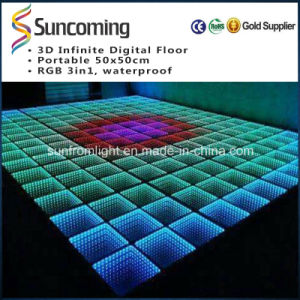 3D Tunnel Effect Mirror Night Club Dance Floor pictures & photos