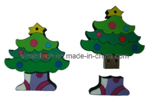 Promotional Customized USB Flash Drive for Christmas Tree Gifts