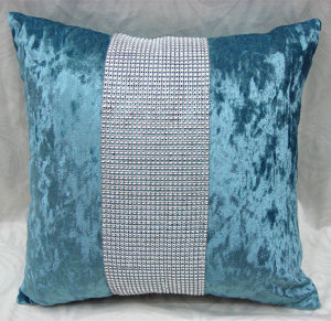 Fashion Ice Velvet Rhineston Cushion (DIV02-005) pictures & photos
