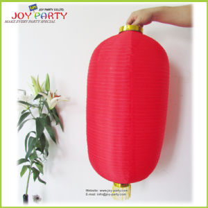 Outdoor Chinese Traditional Red Wax Gourd Nylon Lamp with Fringe