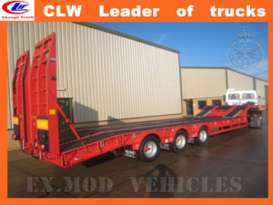 Three Axles Low Loader Trailer 60ton Semi Trailer pictures & photos