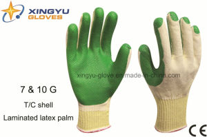 T/C Shell Laminated Latex Palm Safety Work Glove (S1101) pictures & photos