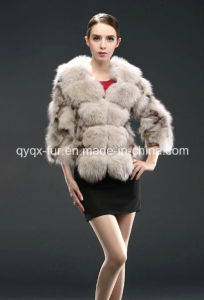 Women′s Winter Warm Fox Fur Short Coat 2015 New Fashion