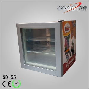 Desktop Single Glass Door Mini Freezer (SD 55)