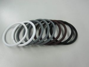 Hair Elastics White Grey Color Ha002