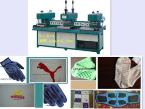 Silicone Label on Clothes, Cheap Rubber Brand Shapping Machine for Factories (LX-S05) pictures & photos