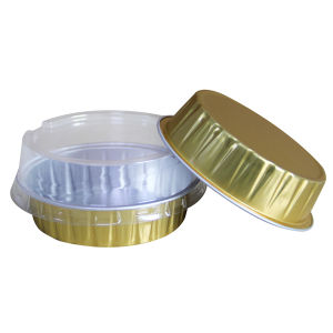Aluminium Foil Container With Lid For Airline Food Packaging