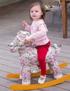 High Quality Rocking Horse-Horse Rocker with Pink Flower pictures & photos