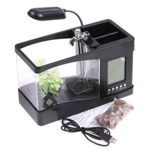 China Desktop Mini Usb Aquarium Indoor Mini Fish Tank With Led Light China Fish Tank And Aquarium Products Price