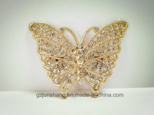 Fashion Butterfly Shaped Stone Metal Buckle Decoration Bags Shoes Accessories for Wholesale