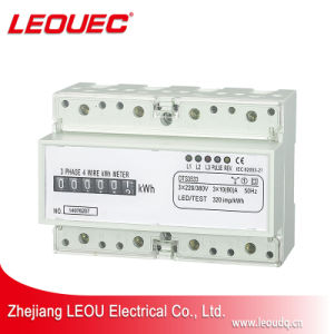 Digital Three Phase 7P Electricity Energy Power kWh Meter DIN Rail Mount