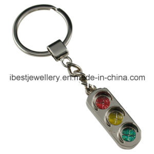 Key Chain- Traffic Light with Glitter Color Enamel (K011)