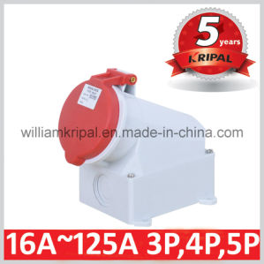 IP44 32A 3p+N+E Electric Socket pictures & photos