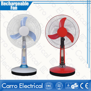 16 Inch 12V 35W All in One DC Motor Solar Tower Desk Rechargeable Electric Fan with Battery