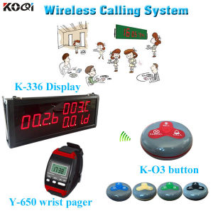 Wireless Service Calling System K-336+Y-650+O3-G Popular in Restaurant Hotel pictures & photos