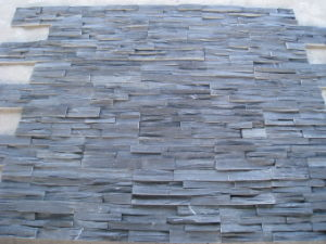 Black Slate Rough Surface Culture Stone for Wall