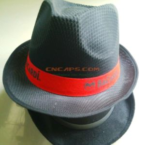 297ac441 China Custom Printed Polyester Fedora Hat with Ribbon for ...
