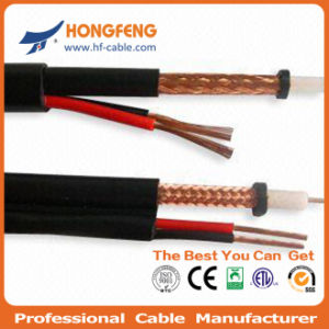 CCTV Camera Rg59 Siamese Coaxial Cable+ BNC Power Patch Cord pictures & photos