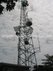 Professional Roof Top Housetop Steel Telecommunication Tower pictures & photos