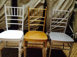 Steel White/Gold/Silver Chiavari Chair, Aluminum Tiffany Chair pictures & photos