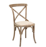 Natural Wood Cross Back Chair for Wedding pictures & photos
