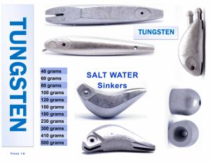 Wholesale Polished Tungsten Salt Water Sinker pictures & photos