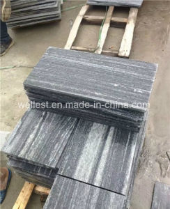 Anti-Slip Flamed Grey Granite Tile with Veins for Patio Paving pictures & photos