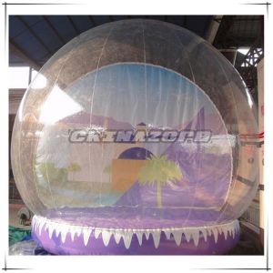 High Quality Inflatable Snowglobe with Full Painted Backdrop