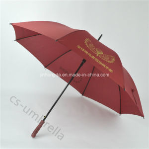 "Red Custom 27"" Golf Advertisement Straight Umbrella with Logo (YSS0112)"