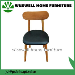 Admirable Oak Dining Chair With Black Seat Pad Pabps2019 Chair Design Images Pabps2019Com