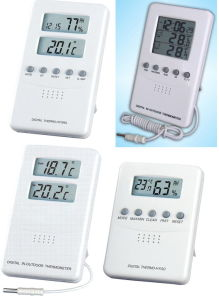 Digital Room Thermometer&Hygrometer, Digital in-Outdoor Thermometer pictures & photos