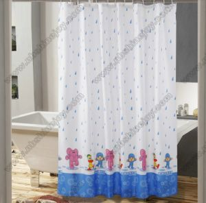 Happy Raining Shower Curtain PEVA\PVC\EVA\100% Polyester pictures & photos