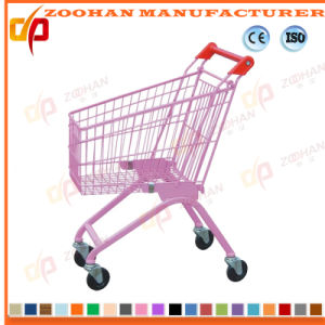 Children Supermarket Shopping Plastic Cart Trolley (ZHt282) pictures & photos