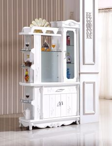 Wholesale Wall Wood Wine Cellar Cabinet with Beer Glass Rack